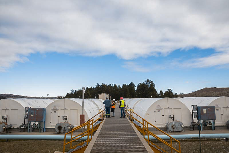 Present-day Waste Water Treatment Plant at Sanford Underground Research Facility. Photo by Matthew Kapust